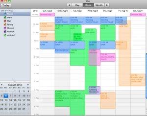 Busy TimeBlock WORK calendar template for blog
