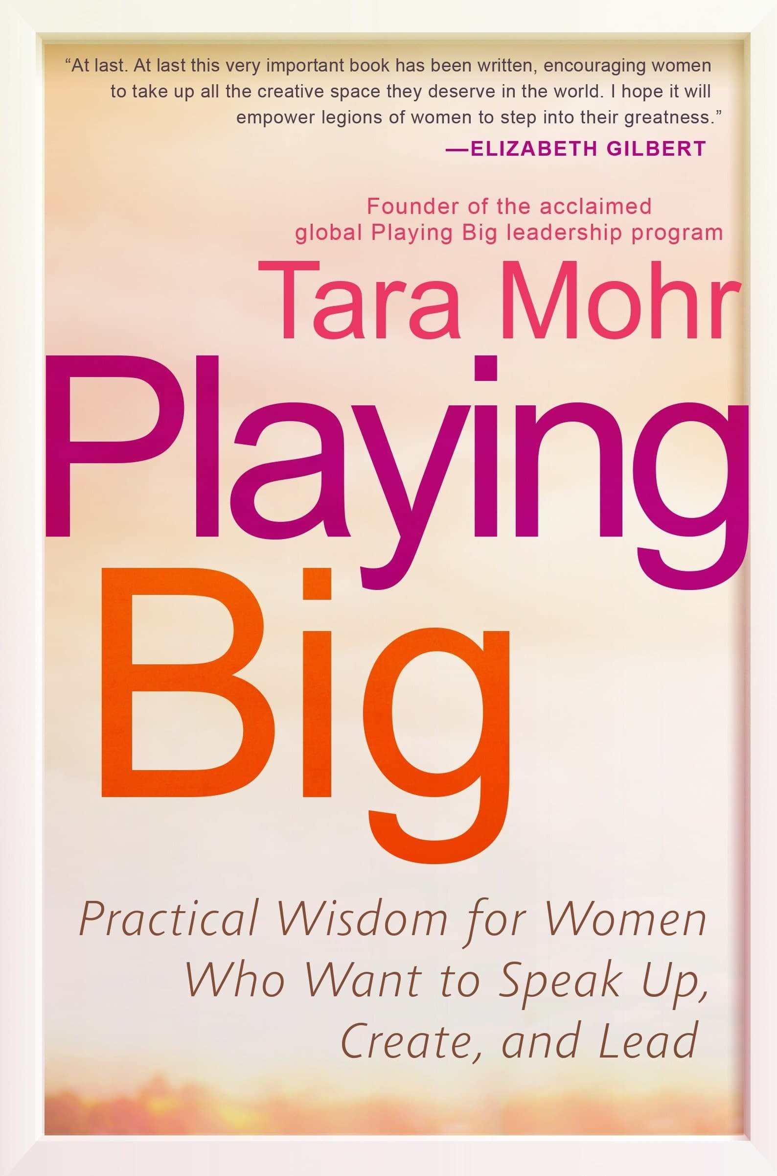 Playing Big book cover